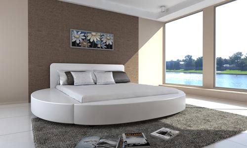 Dom a b vanie modern kulata polstrovan postel 180x200cm - Letti rotondi ikea ...
