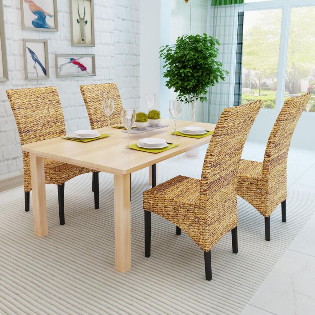 fb0ce7297a07 Ručne tkané jedálenské stoličky 4 ks